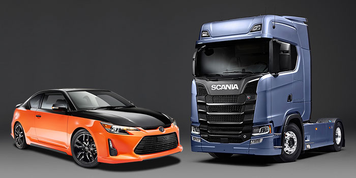Concept Car and Skania Lorry